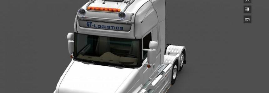 GTM Kelsa Double roofbar for SCS and RJL Scanias