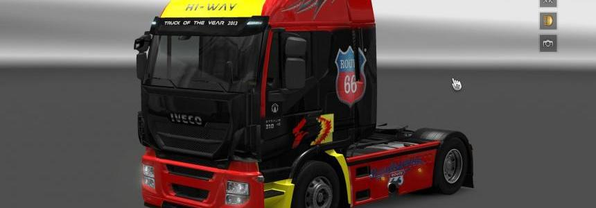 Iveco Hi Way Route 66 Skin + Interior