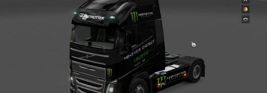 Monster Energy Skin & Dashboard light & Interior