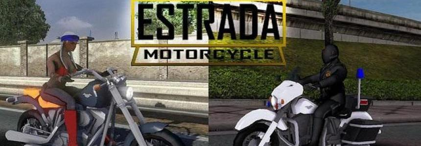 Motorcycle Estrada in Traffic