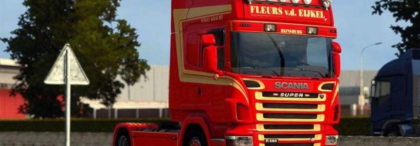 Scania R2008 Fleurs vd Eijkel Skin