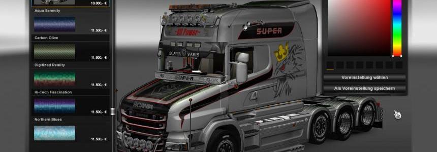 Scania T Longline Vabis V8 Metallic Skin v2.0