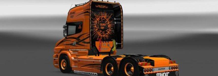 Scania T Orange Fury Skin
