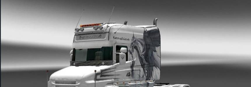 Scania T White Dragon Skin