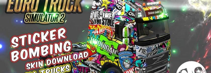 Stiker Bombing Skin for All Trucks + Volvo FH16 2013 by ohaha