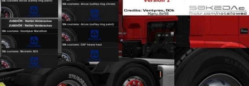 50k Alcoa DAF Wheels Pack v1.0