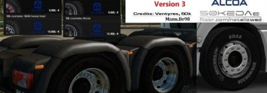 50k Alcoa MAN Wheels Pack v3.0