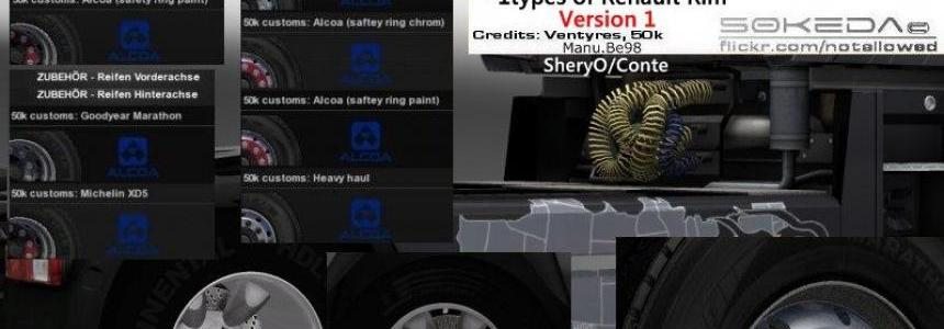 50k Alcoa Renault Wheels Pack v1
