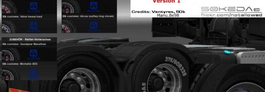 50k Alcoa Volvo Wheels Pack v1.0
