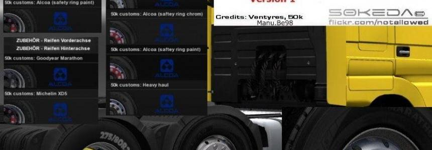 50k Mercedes Alcoa Wheels Pack v1.0