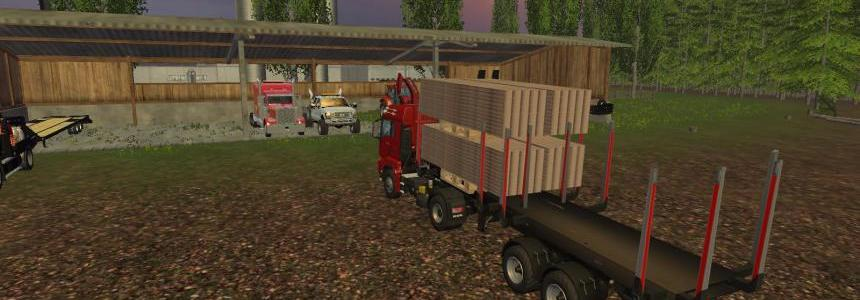 Fliegl Lumber Trailer  V1