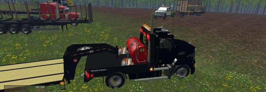 Mack Single Axle Flatbed  V1.1 fuel & Seed Refill Addon