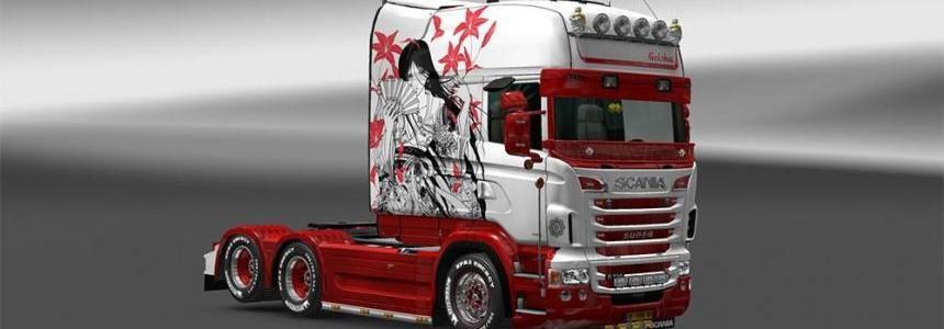 Scania Longline Geisha Skin