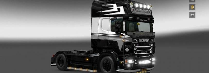 Scania RJL Holland Style Black Skin