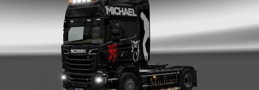 Scania Streamline Michael Jackson Skin v2.0