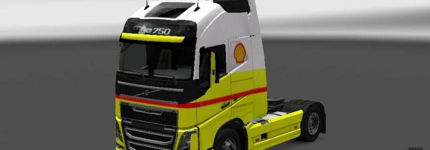 Shell truck+trailer volvo FH 2012
