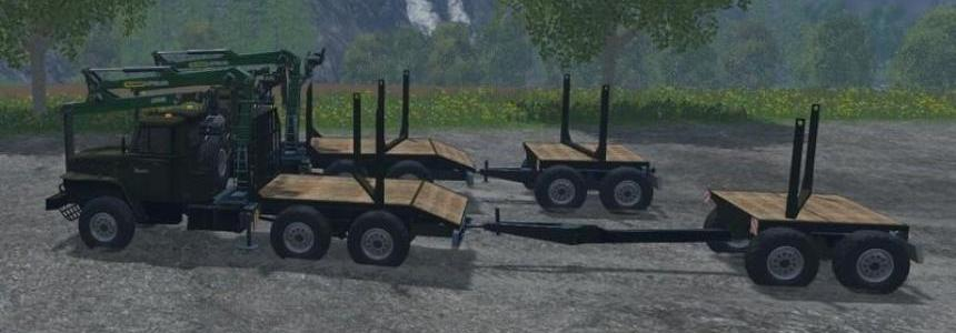 Trailer for URAL with adjustable attacher lenght v3.1