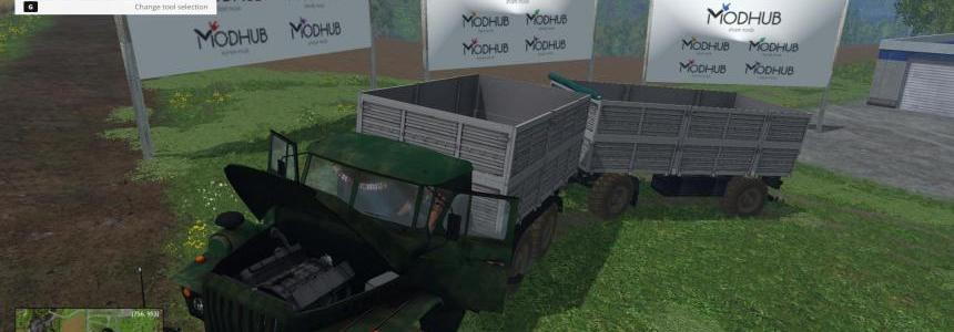 Ural 4320 and trailer v1.0