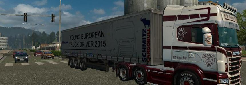 Young European Truck Driver 2015 Trailer V1.0