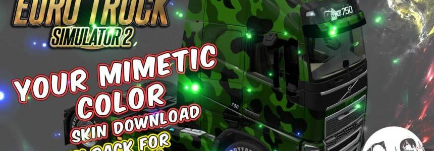 Your Mimetic Color Skin (3 Mask Packs) for All Trucks