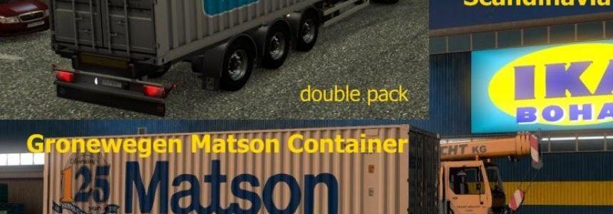 Container Double Pack Sommer Maersk Gronewegen Matson V2