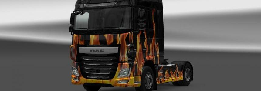 Daf Euro6 Flame Skin 1.18