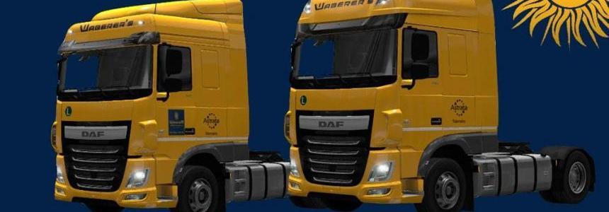 DAF XF Euro 6 Waberer's Skin Pack v1.0