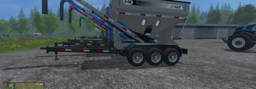 J&M 375ST Fertilizer Tender Trailer v1.1