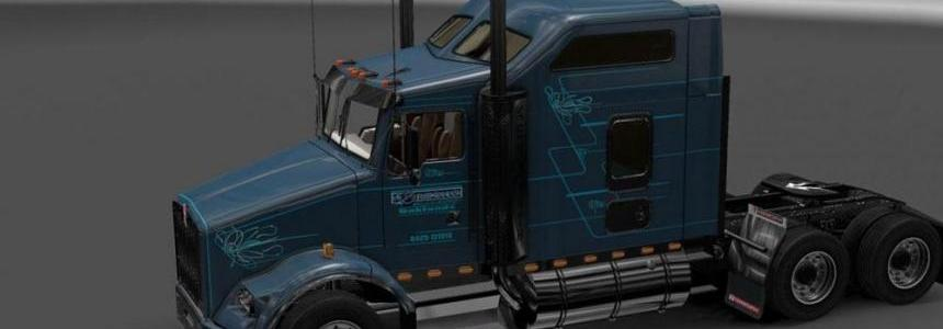 Kenworth T800 Brooks Trucking Skin