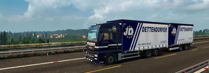 Man euro6 bdf tandem dettendorfer skin for trailer