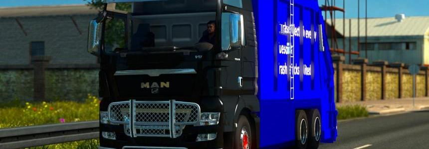 MAN TGX Garbage Truck Tested on 1.18