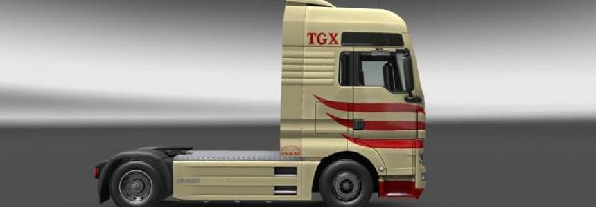 MAN TGX v8 Skin v1.0