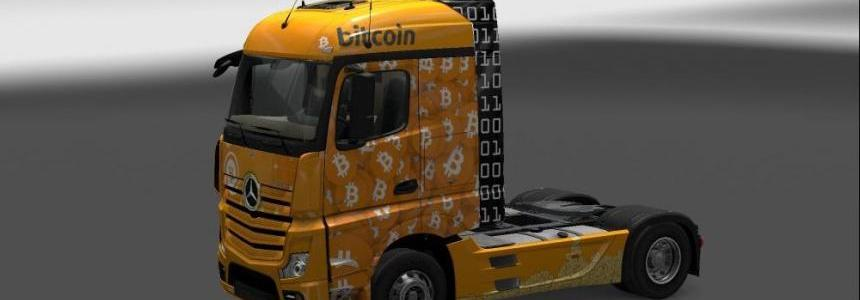 Mercedes Actros MP4 2014 Bitcoin Skin