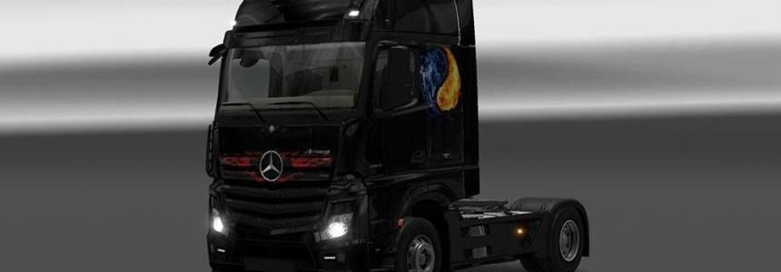 Mercedes Actros MP4 2014 Fire VS Water Skin
