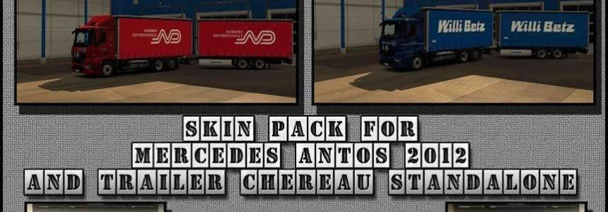 Mercedes Antos 2012 Companies Skin Pack and Chereau Trailers v1