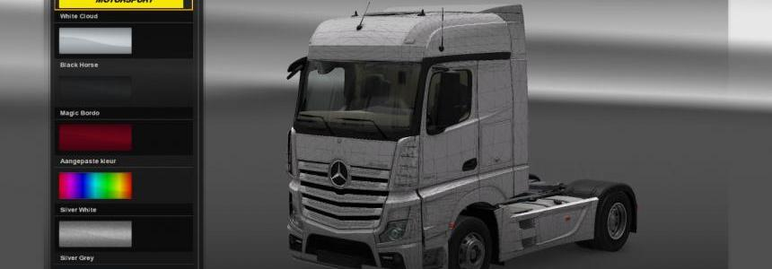 Mercedes benz Actros 2014 template scs file all models 1.18