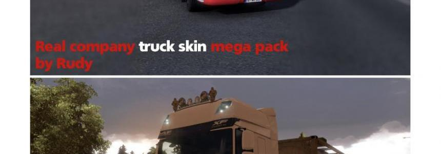 Real Company truck skin (mega pack) by Rudy v1.1