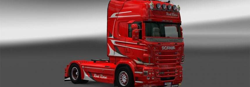 Red Rose Scania skin