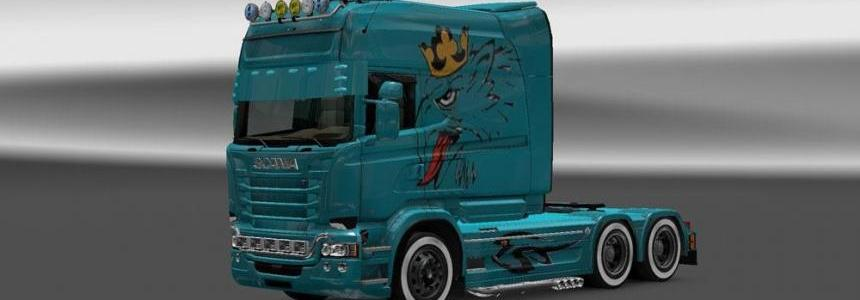 Scania RJL Orel V8 Skin