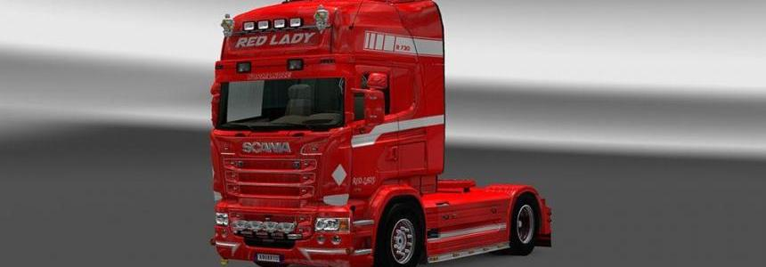 Scania RJL Red Lady Skin