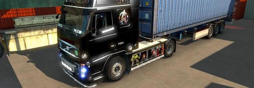 Volvo FH16 Avengers Skin V1.0