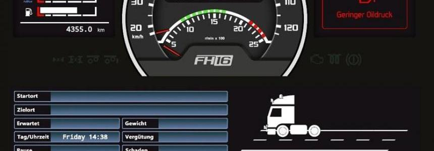 Volvo FH16 Dashboard Skin v0.2.1 beta