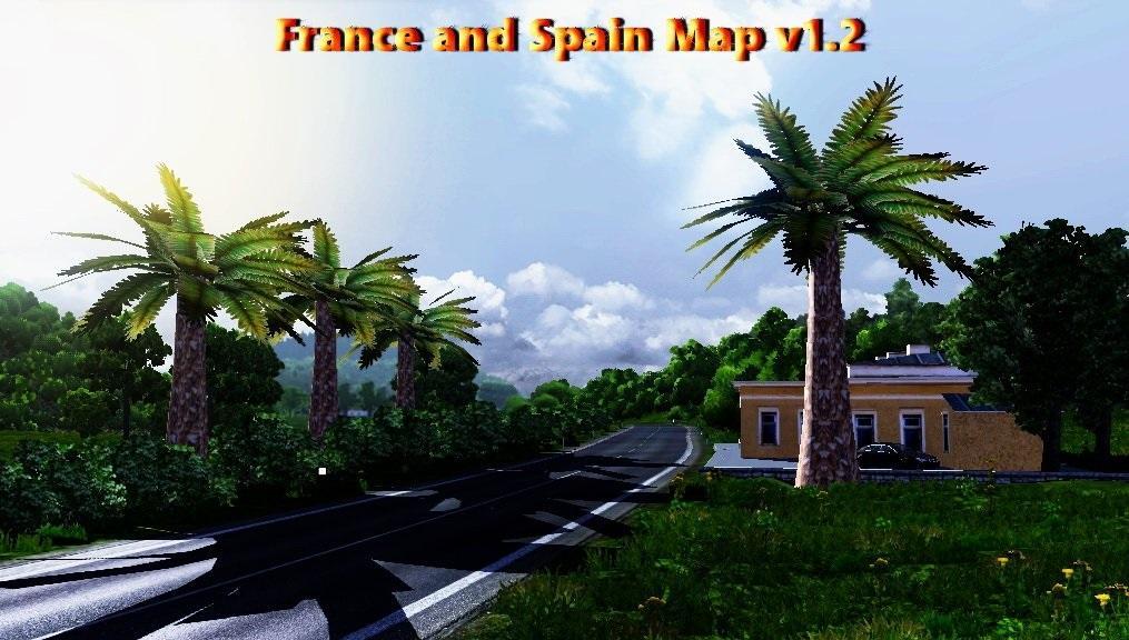 france and spain map v1 2   modhub us