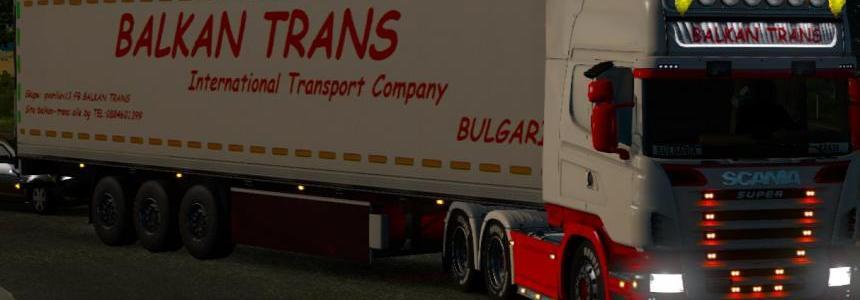 BALKAN TRANS Scania R2008 50k skins 1.18.1.3