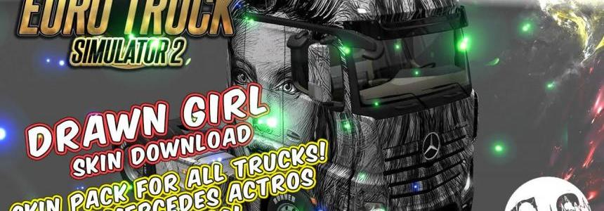 Drawn Girl Skin Pack for All Trucks
