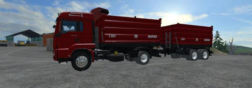 Man TGS 18 440  Brantner E8041 Tipper With Trailer  V2