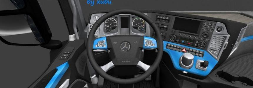 Mercedes Actros 2014 Blue-Black Steel v1.0