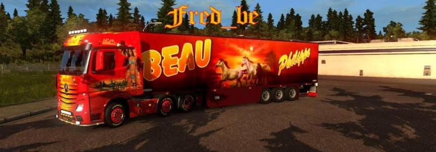 Mercedes Actros 2014 + Trailer Old Chereau 1.18.x