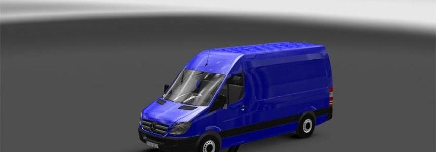 Mercedes Sprinter 1.18 with template