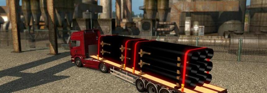 Pipe flatbed trailer